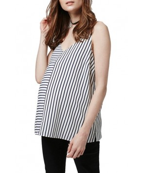 Topshop Mixed Stripe Double Strap Maternity Camisole