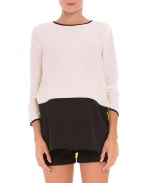Olian 'Mia' Colorblock Maternity Top