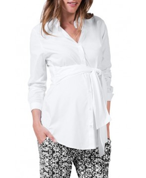 Isabella Oliver Tie Front Maternity Shirt