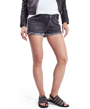 Topshop Cutoff Denim Maternity Shorts - Black