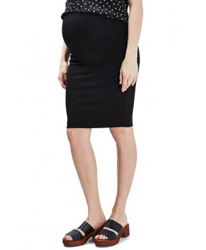 Topshop Double Layer Maternity Tube Skirt - Black