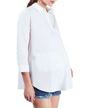 Topshop 'Jet' Poplin Maternity Shirt