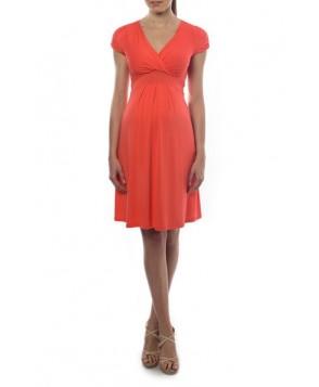Pietro Brunelli 'Jill' Gathered Surplice Maternity Dress