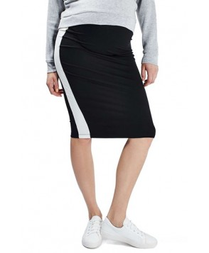 Topshop Side Stripe Maternity Tube Skirt- Black