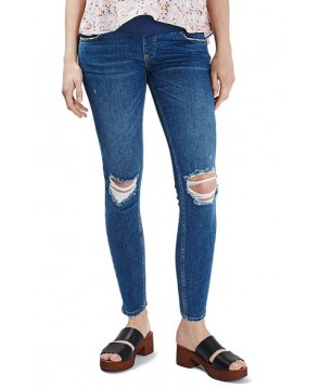 Topshop 'Jamie' Ripped Skinny Maternity Jeans
