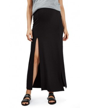Topshop Split Maternity Maxi Skirt - Black