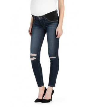 Paige 'Transcend - Verdugo' Ripped Ankle Ultra Skinny Maternity Jeans