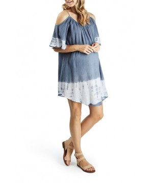 Topshop Dip Dye Cold Shoulder Maternity Cover-Up Dress