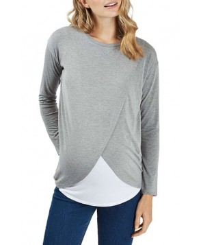 Topshop Long Sleeve Maternity/nursing Top
