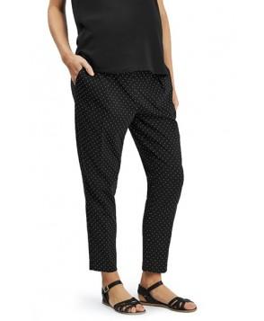 Topshop Pin Dot Maternity Trousers - Black