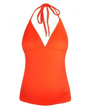 Topshop Braided Halter Maternity Tankini Top - Coral