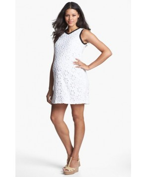 Maternal America Eyelet Maternity Shift Dress