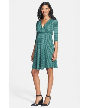 Maternal America Quilted Yoke Maternity Dress