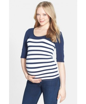 Tees By Tina 'St. Barts' Ballet Sleeve Maternity Top