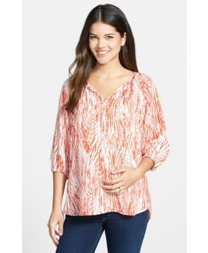 Loyal Hana Maternity/nursing Peasant Top