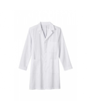 Meta Mens 4 inch Wrinkle Resistant twill lab coat - White