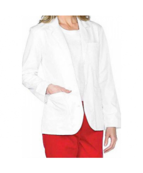 Meta Ladies 8 inch Consultation lab coat - White