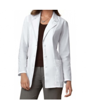 Cherokee embroidered lab coat with Certainty - White