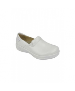 Alegria Keli White Waxy nursing shoes - White Waxy