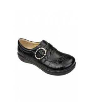 Alegria Khloe Black Waxy nursing shoes - Black Waxy