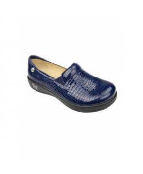 Alegria Keli Blue Croco nursing shoe - Blue Croco