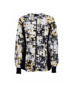 Cherokee Flexibles In the Abstract print scrub jacket - In the Abstract