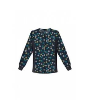 Cherokee Flexibles Dots Wild print scrub jacket - Dots Wild