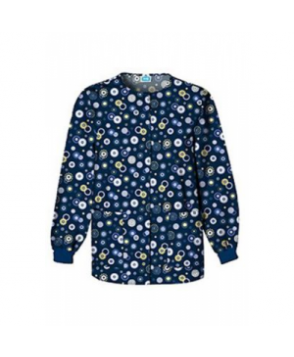 Cherokee Scrub HQ Dots Wonderful print scrub jacket - Dots Wonderful