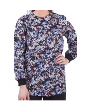 Landau Uniforms Scattered Blooms print scrub jacket cattered Blooms Multi