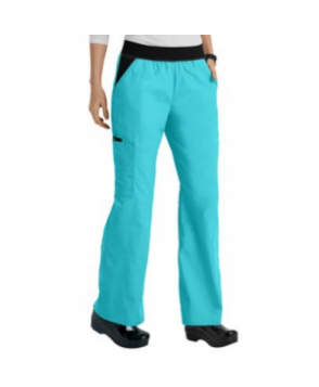 Cherokee Flexibles elastic waist scrub pants - Island Breeze - PS