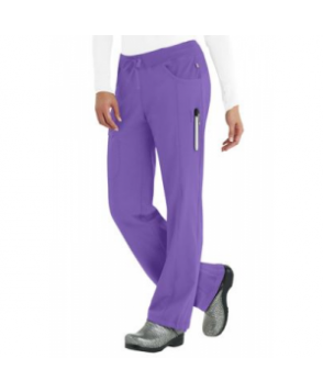 Infinity by Cherokee low rise straight leg drawstring scrub pants with Certainty - Wild Orchid - PL
