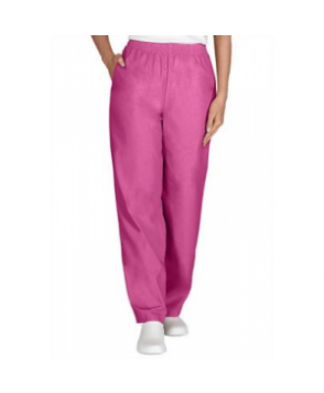 Fundamentals elastic waist two-pocket scrub pant - Pink