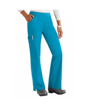 Bio Bring It On cargo scrub pant - Turquoise/black