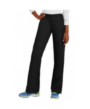 Landau elastic waist flare-leg scrub pant - Black