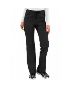HeartSoul drawstring scrub pants with Certainty - Black