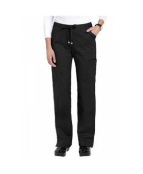 HeartSoul Charmed-pocket cargo scrub pant - Black