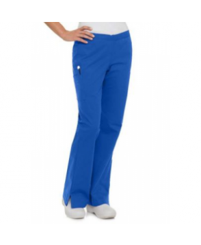 Landau Smart Stretch  pocket flare cargo scrub pant - Royal - PM