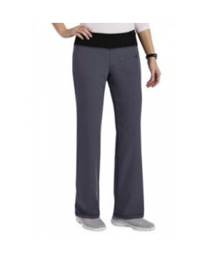Jockey womens yoga scrub pant - Pewter/black - PXS