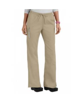 Cherokee Workwear drawstring flare-leg scrub pant - Dark Khaki