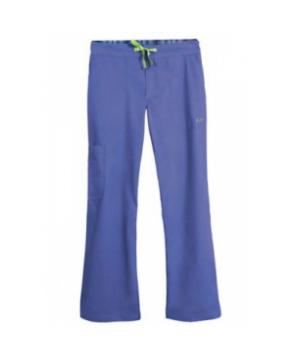 IguanaMed Mens Icon scrub pant - Azure blue/iguana green
