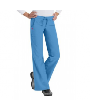 Med Couture Gold flare-leg pant - Ultra Blue/Pink Sorbet