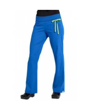 Urbane Sport knit roll-top yoga STRETCH scrub pant - Royal