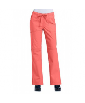 Ecko Tiffany drawstring flare-leg scrub pants - Coral Rose - PX