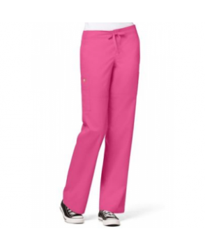 WonderWink Utility Girl cargo pocket scrub pant - Hot pink