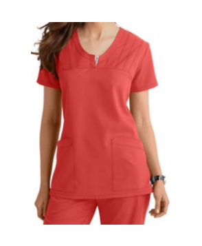 Greys Anatomy v-neck -pocket scrub top - Nectarine