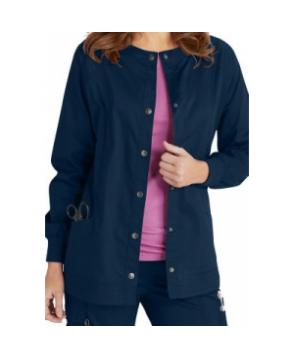 Beyond Scrubs Erin snap front scrub jacket - Navy
