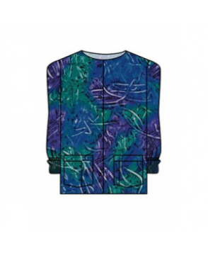 Landau Finger Paint print scrub jacket - Finger Paint