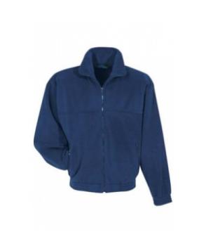 Tundra Panda fleece scrub jacket - Navy