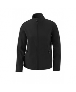 Womens -layer fleece bonded soft shell jacket - Black