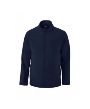 Mens -layer fleece bonded soft shell jacket - Navy